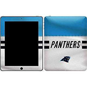 NFL Carolina Panthers iPad Skin - Carolina Panthers White Striped Vinyl Decal Skin For Your iPad