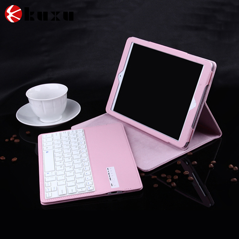 2016 factory Tablet Leather Keyboard Case Wireless Bluetooth Keyboard Case for iPad 2/3/4 Air 2