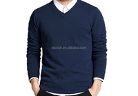 Wholesale In Stock V Neck Pullover Man Sweater