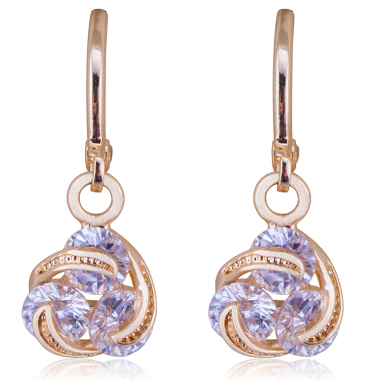 indian design light weight simple gold earring designs for party ...