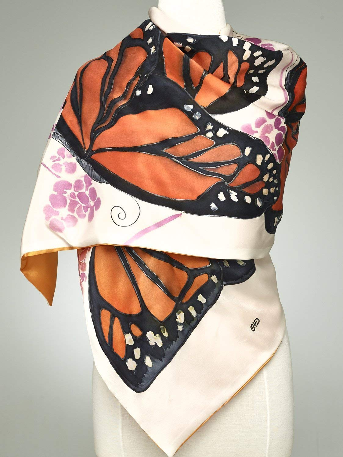 6581d60d3c77 Get Quotations · Hand Painted Silk Scarf