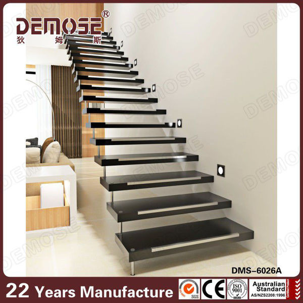 Escaleras Flotantes/recta Escaleras/escalera De Madera De