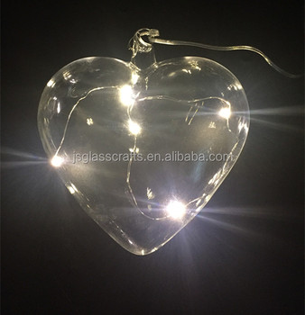Battery Operated Gl Heart Shaped Led Christmas Lights Ornament Fairy Light