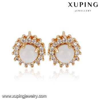 93023 Best Ing Elegant Las Costume Jewelry Simply Design Stud Earrings With Colorful Opal
