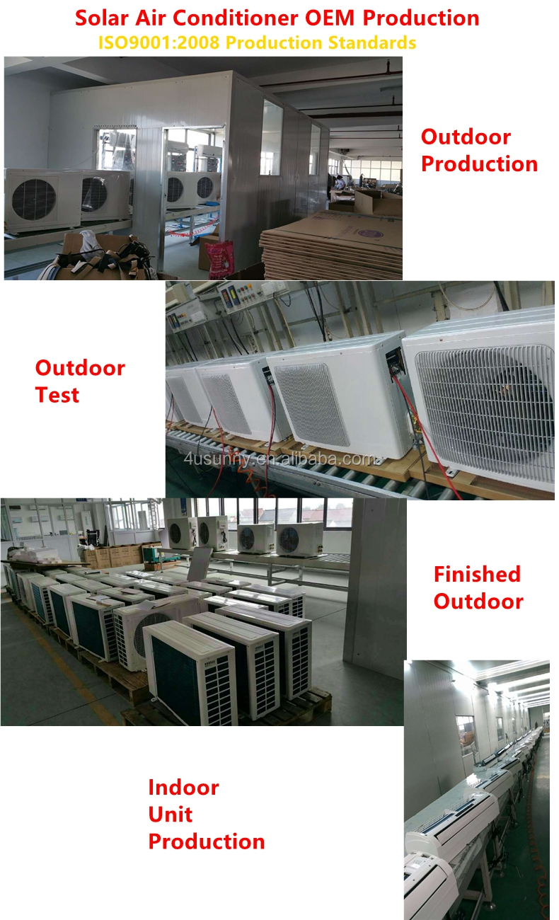 TKF-26GW/NDC Green Energy Mini 분할 벽 잘 고정 된 형 Solar Air Conditioner 48 V DC 100% Solar Air 컨디셔닝