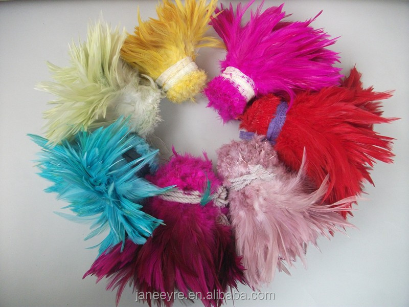 Colorful Design Dyed Rooster Feather Cheap
