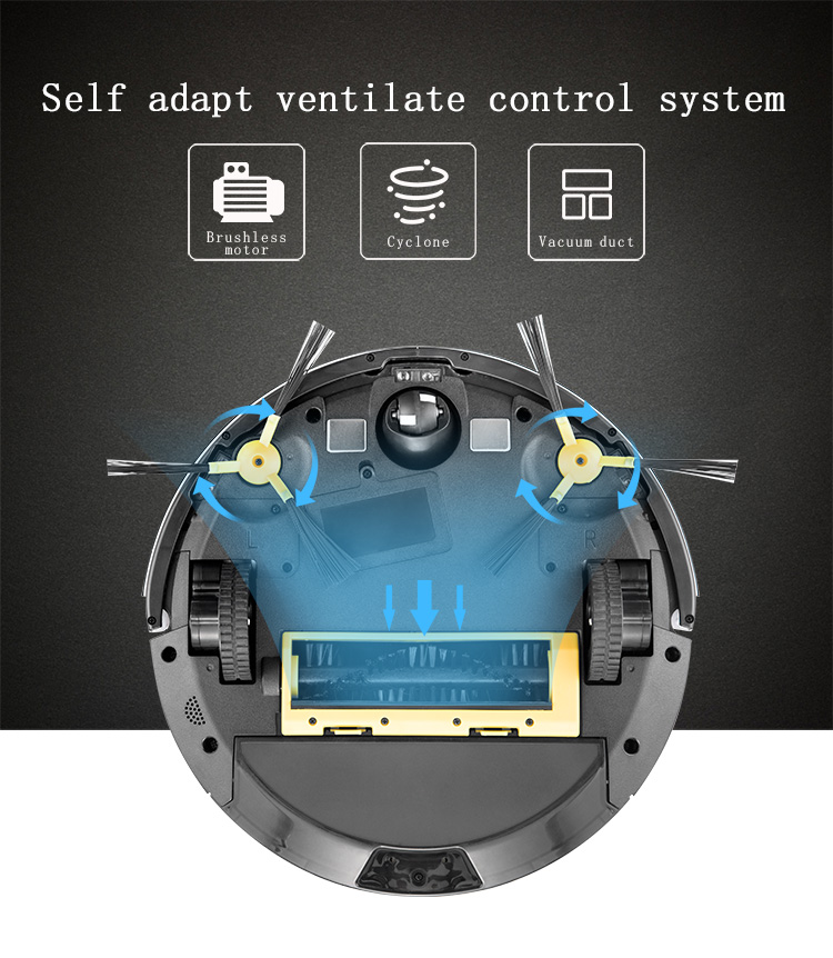 battery powered vacuum cleaner automatic robot floor cleaning machine vacuum cleaner