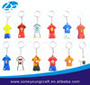 Various football club 3d jersey pvc soft rubber keychain for sale