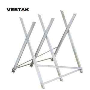 VERTAK foldable steel log saw horse wood trestle stand holder