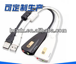 USB 2.0 3D Sound Card Virtual 5.1,sound audio adapter Made in China with high quality