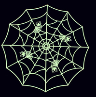 2018 creative new arrival party theme Halloween plastic spider web decoration for home wall