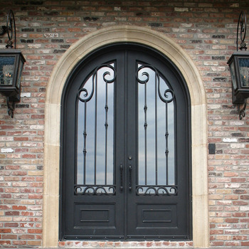 Arch Top Double Wrought Iron Gate Door Price Gates Prices Product On Alibaba