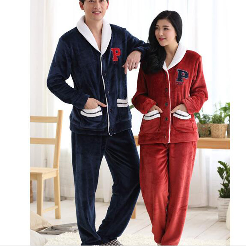 73ec3ce749 Winter Mink Cashmere Cardigan Couple Pajamas Men s Casual Sports Suit  Ladies Warm Tracksuit Modern Clothing Nightwear Kimono