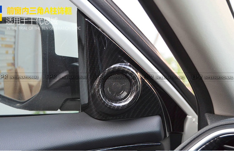 For 10th Generation Civic FC A-pillar speaker trim 2Pcs LHD CF
