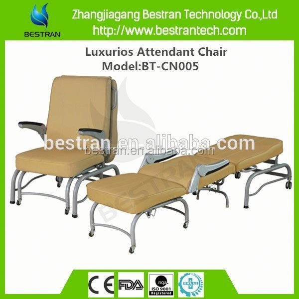 BT-CN005 with PU cover steel frame backrest adjustable mobile accompany chair
