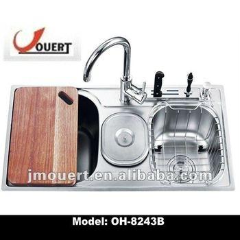 armadio da cucina,in acciaio inox industriale lavello per cucina