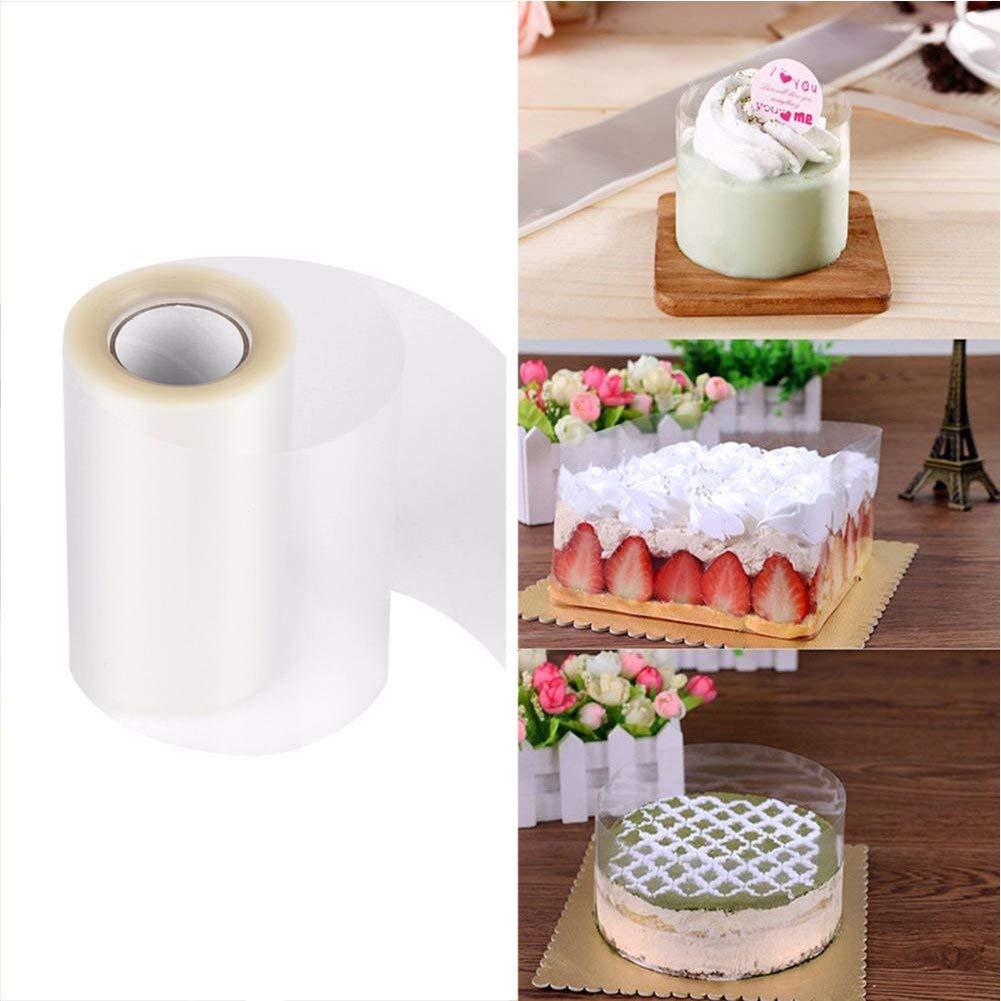 Cake Collar,Transparent Acetate Sheet Baking Surrounding,Chocolate Mousse and Cake Decorating (3.9 X 394 inch)