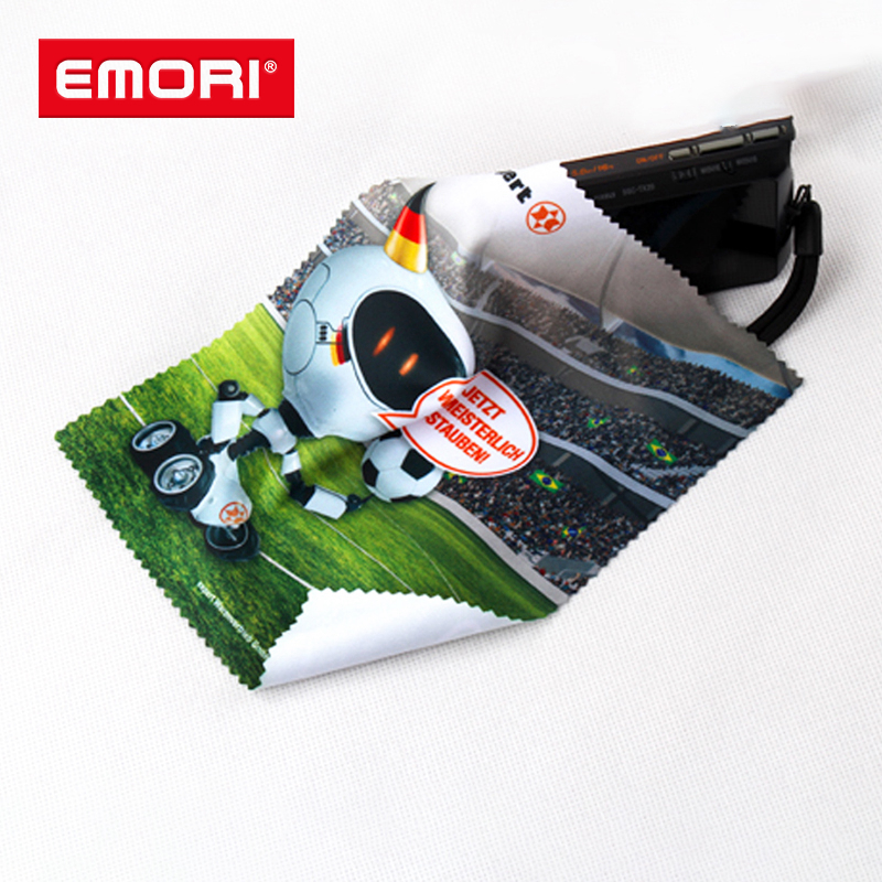Personalized eco-friendly reusable microfiber cleaning cloth for glasses