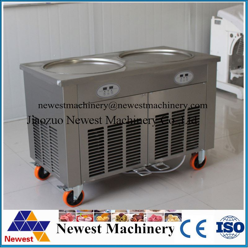 low price high quality fried roll ice cream machine/thai fried ice cream machine/single pot pan with six cooling holes