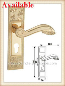 Door Pop Up Metal Hardware door handle on backplate