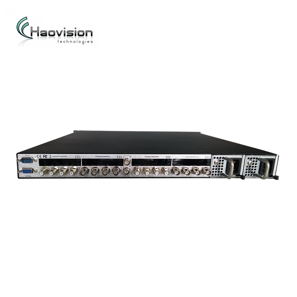 Professioanl IRD with 8 *dvb-s2 ird CI slot hd receiver for digital headend solution