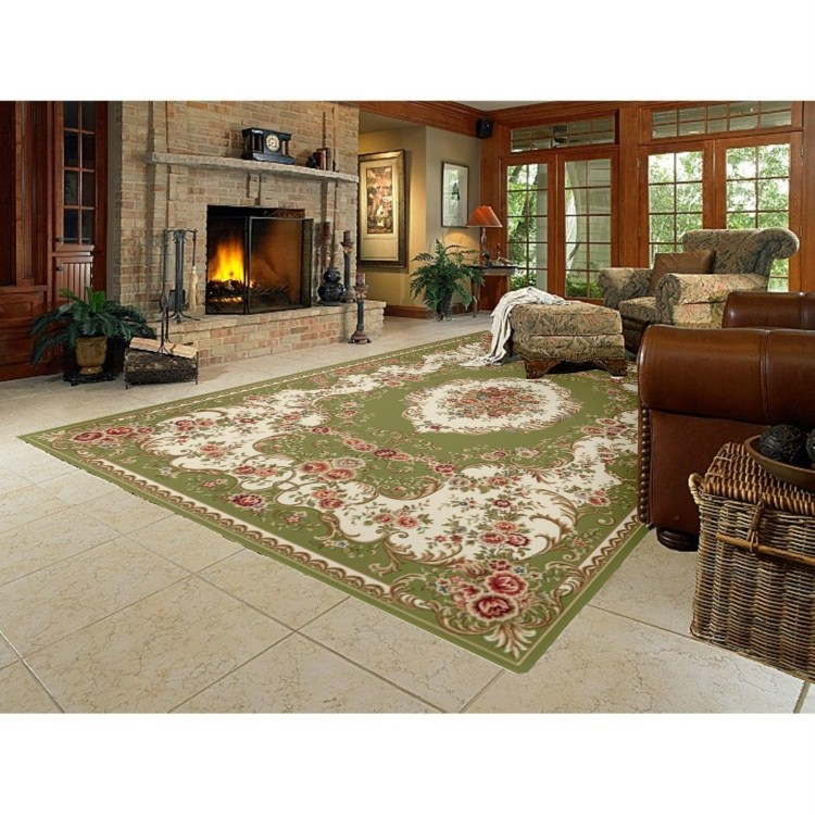 rustic empty living room carpet | Green-fresh-fashion-rustic-living-room-coffee-table-carpet ...