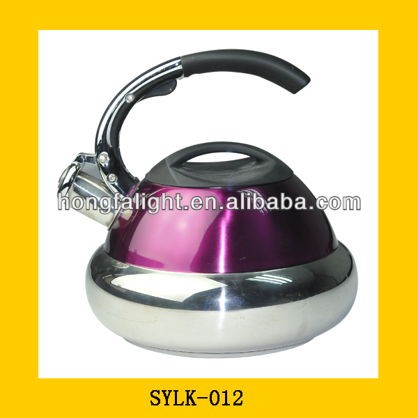 modern aluminum kettle with the handle