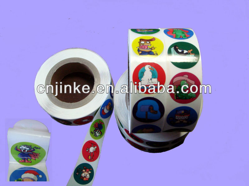 Adhesive label sticker for plastic jars