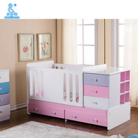 ECO MDF Multi-Functional Baby Cot Bed Baby Crib With Removable Drawers