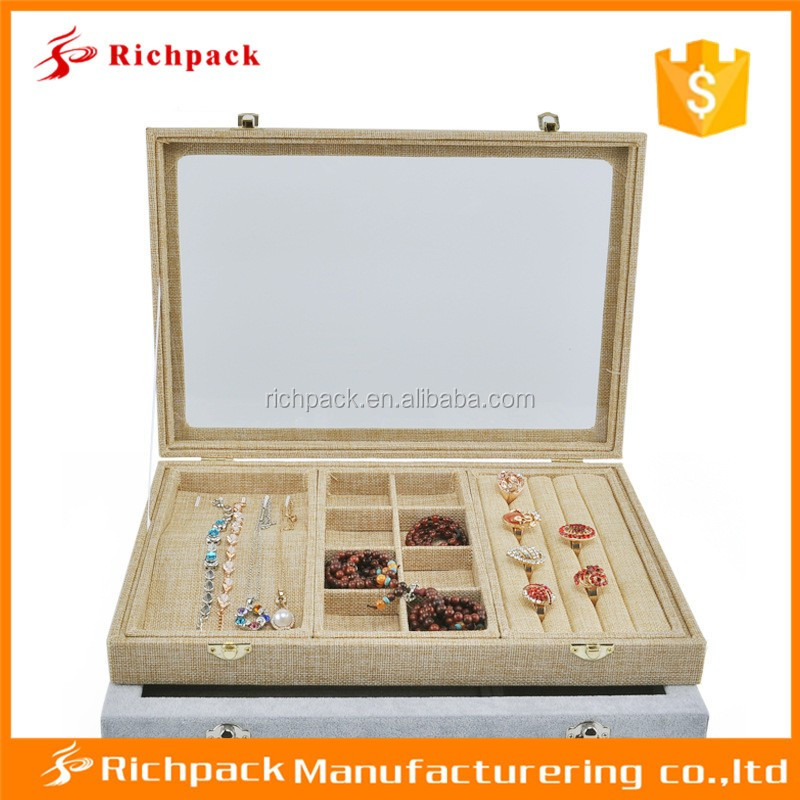 factory supply multi-functional jewelry set tray with mirror
