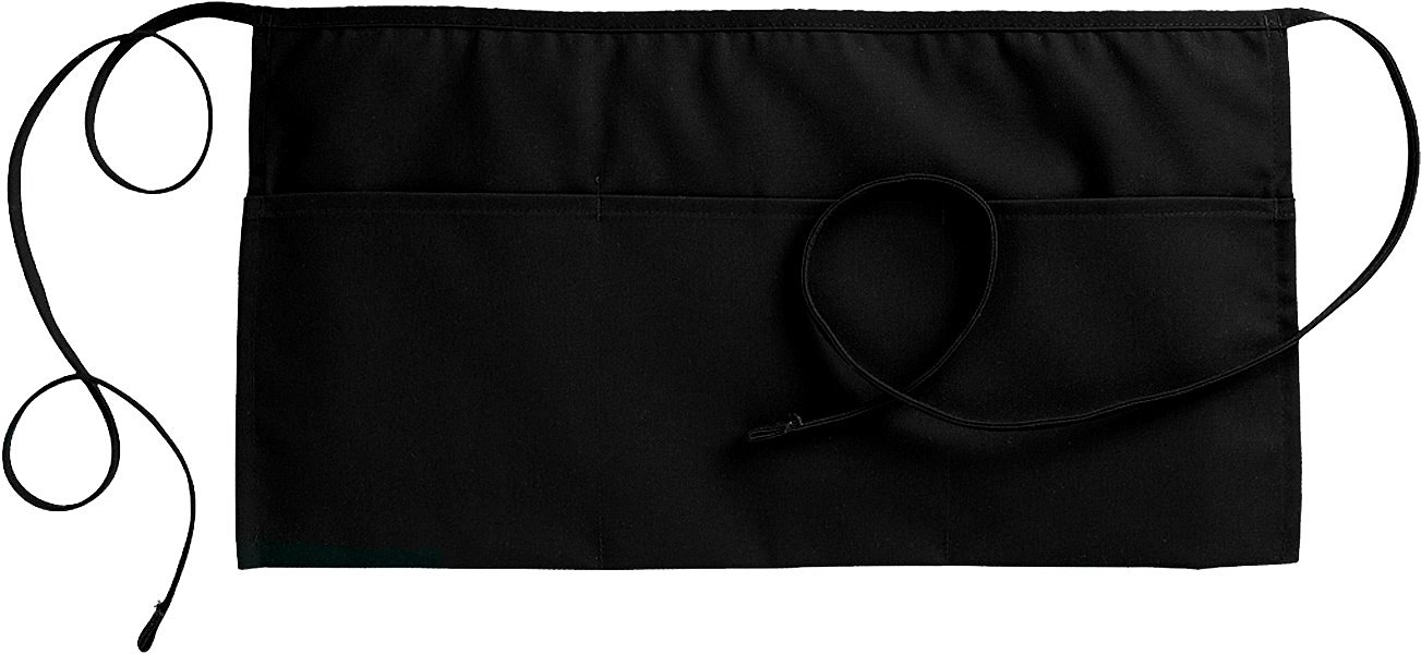 """Fiumara Apparel 3 Pockets Waist Apron Poly Cotton Commercial Restaurant Kitchen Ideal for Professionals - Black 