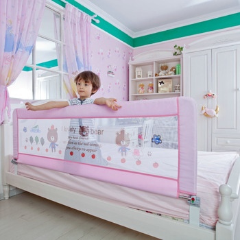 Baby Bed Rails Fence Safety Good Quality Rail Guard 150cm Pink