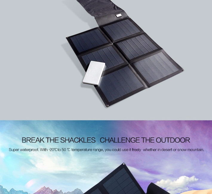 Hanergy 48w portable and foldable solar panel for laptop with advanced thin film solar technology