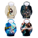 2018 new DC movie AQUAMAN Hoodies 3D digital printing plush Aquaman hoodie sweater