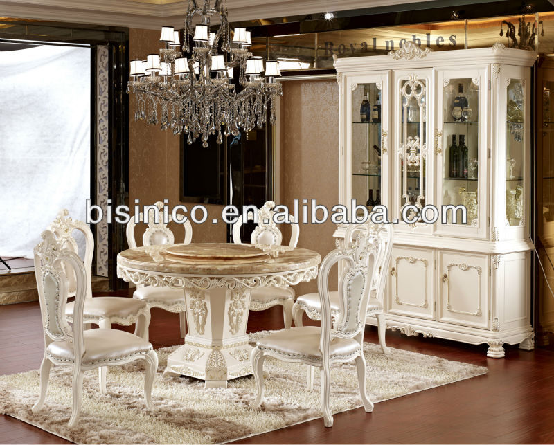 deluxe ronde avec table et chaises de salle manger en marbre table et lazy susan table en bois. Black Bedroom Furniture Sets. Home Design Ideas
