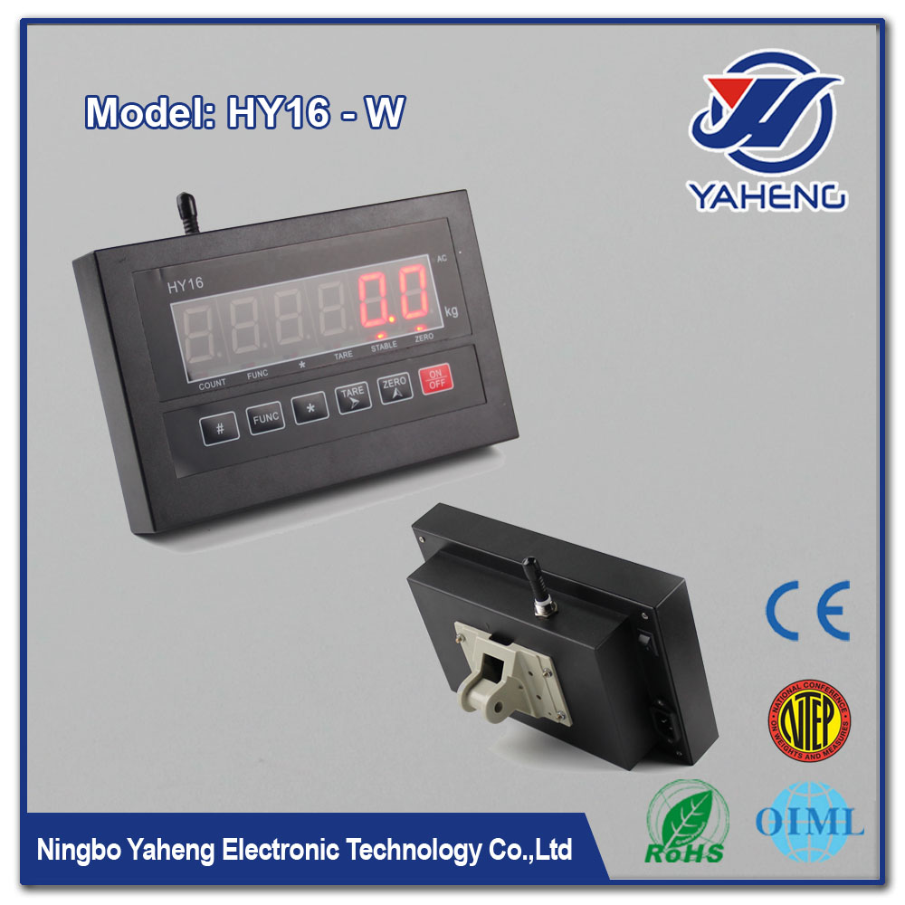 Wireless weighing indicator HY16W Simple Indicator For bench Scale from Ningbo China