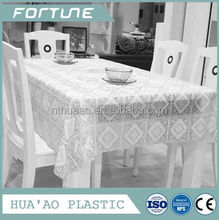 pure white pvc lace piece for dining table overlays