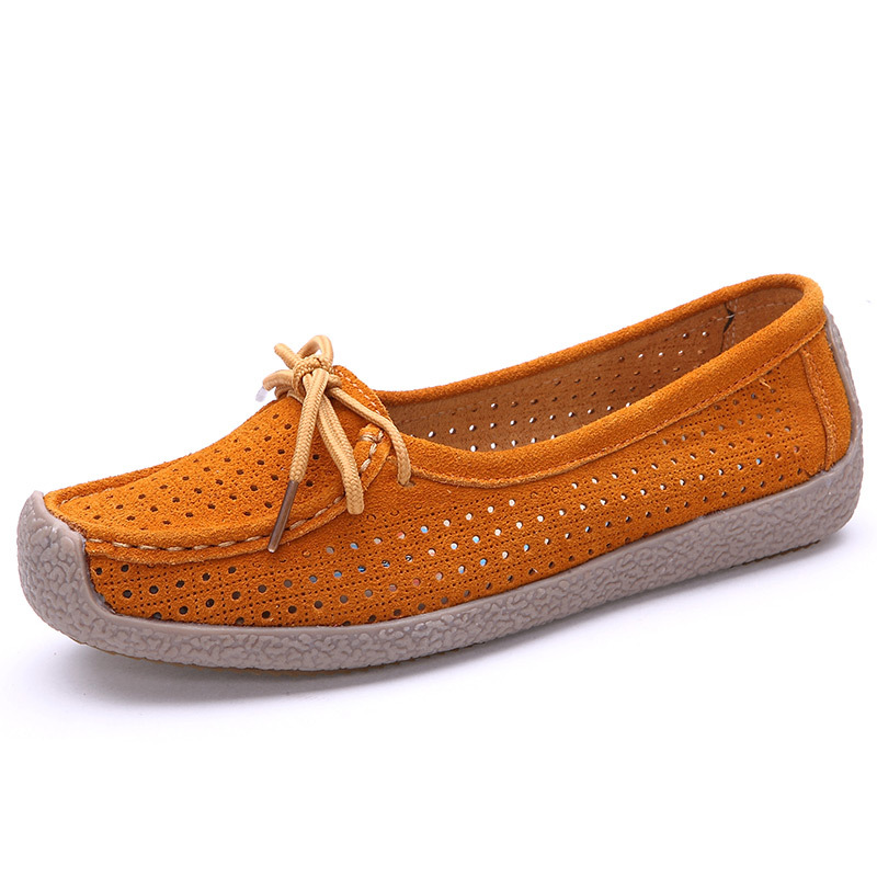 f4f792a61 Get Quotations · 2015 Summer Genuine Leather Women Loafers Shoes Woman  Suede Leather Moccasins Ladies Casual Flats Shoes