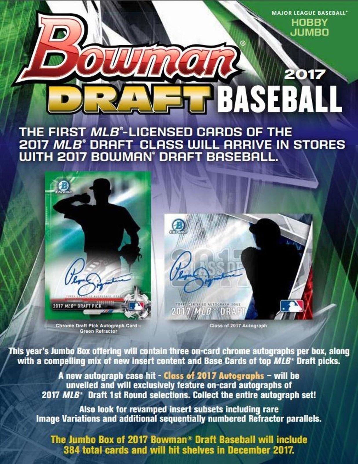 Buy 2017 Bowman Draft MLB Major League Baseball COMPLETE ...