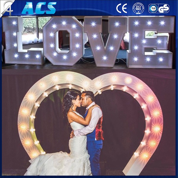 Acs Giant Love Letter&high Quality Front Lit Led Bulb Letter Signs ...