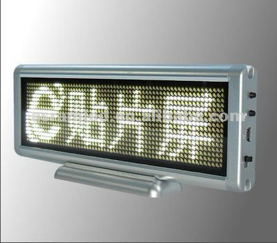 Indoor dot matrix vision electronic programmable digital led scrolling name badge