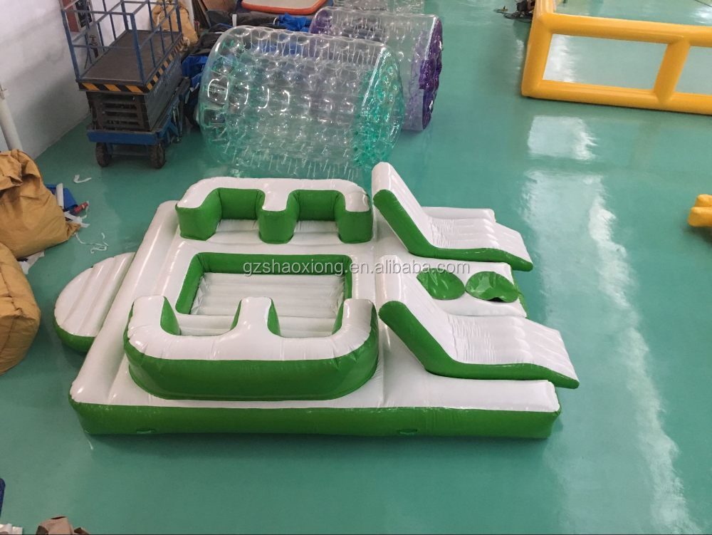 In stock !!! Hot cheap inflatable water floating island/hot inflatable floating water park/inflatable water floating bed