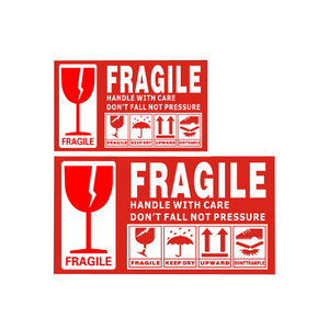 Shipping label stickers, Self adhesive shipping warning fragile labels roll