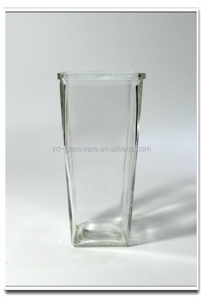 altos jarrones de cristal florero de vidrio de color y barato y barato al por mayor