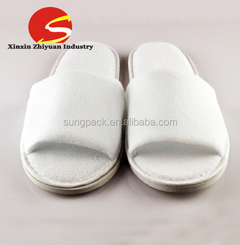 df309b03b85 Rubber Sole Top Quality Washable Spa Indoor Hotel Guest Slippers ...