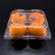 Disposable PET transparent plastic kiwi apple fruit clamshell packaging boxe container blister mango fruit packing box