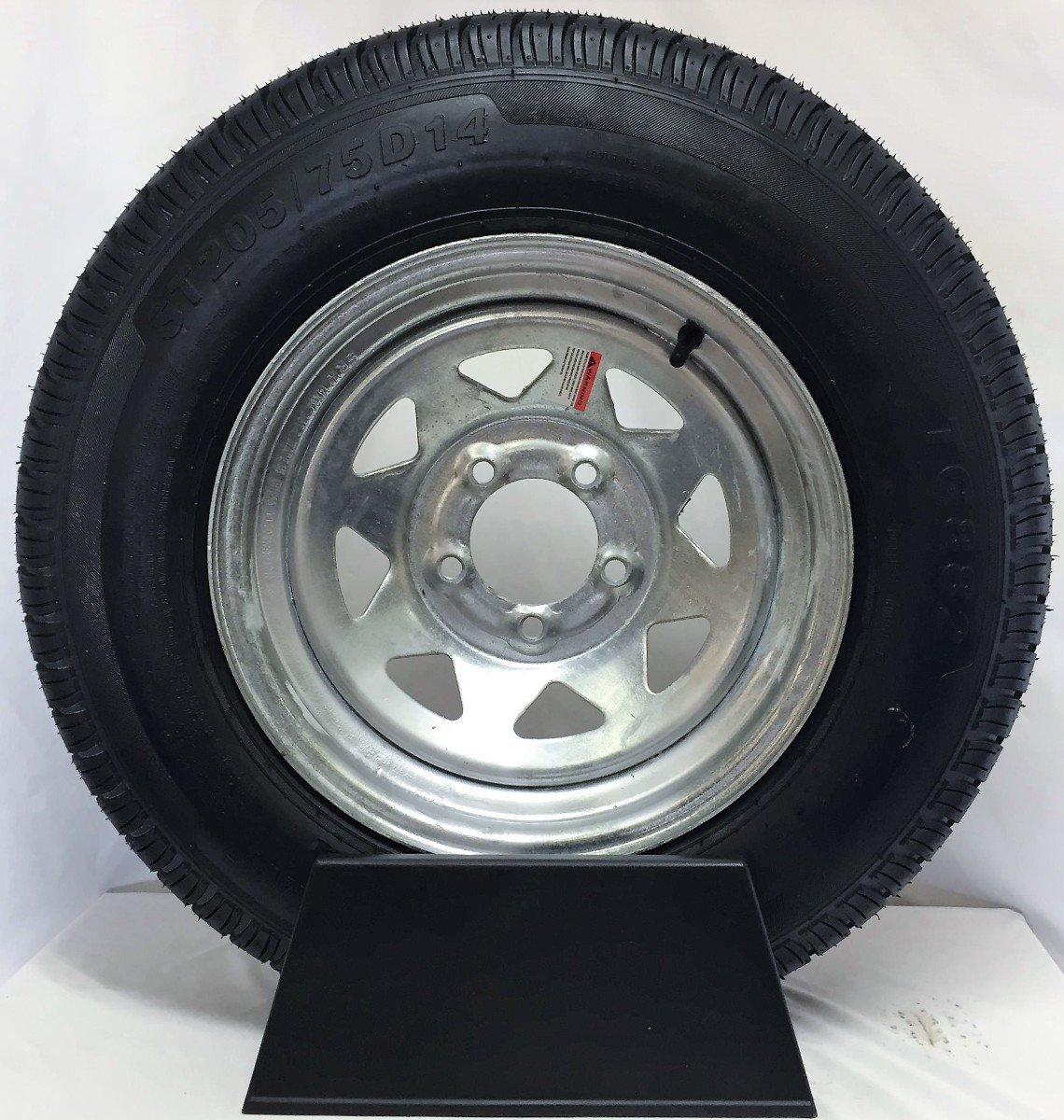 Qd 712 Trailer Tires 4 80 8 6 Ply Load C On White Rims 4 Lug 4