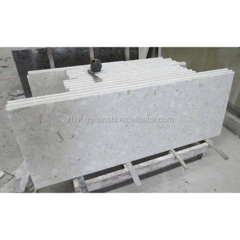 Low Price White Custom Cut Marble Table Top