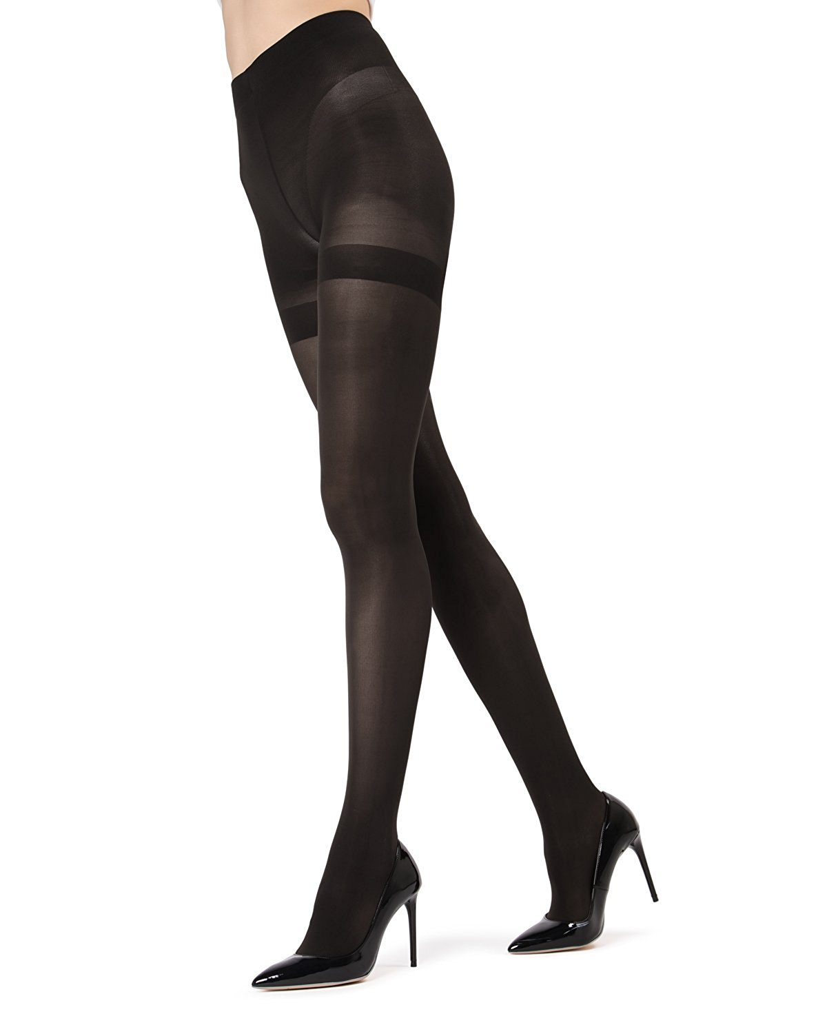2ddc49edc Get Quotations · MeMoi Perfectly Opaque Shaper Tights
