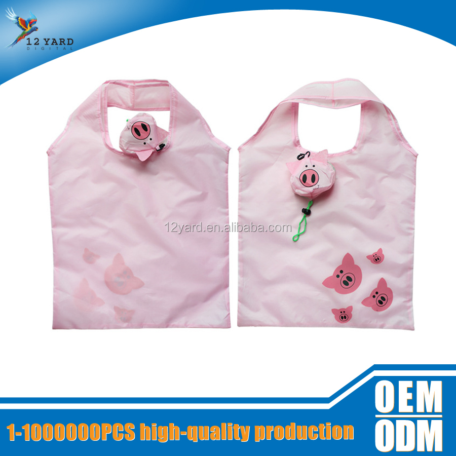 china guangzhou supplier taobao Promotional Reusable Foldable Shopping Bag